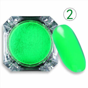 2g Nail Pigment Glitter Powder Neon Phosphor  Decor Tips #2 BORN PRETTY