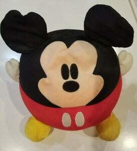 Disney Theme Park Exclusive - 12 Inch Round Beanbag Mickey Mouse Plush Pillow