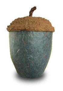 Urn for Ashes Biodegradable Urn Acorn Urn  Ecological Urn Memorial Urn in Stone