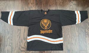 Vintage Jagermeister Bomb Booze Alcohol NHL HOCKEY Jersey Mens Sz XXL Vtg Black