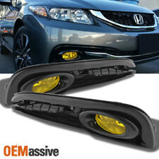 Fits 2013 2014 2015 Honda Civic 4-Door Sedan Bumper Yellow Fog Lights w/ Switch