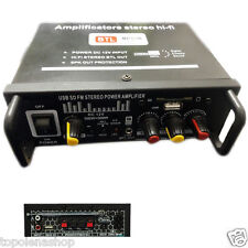 AMPLIFICATORE AUDIO 12V 220V USB SD MP3 RADIO FM CASA AUTO 2 O 4 CH 1000W BTL