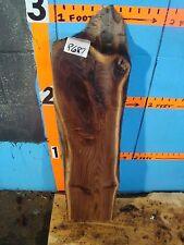 "# 8687   2"" THICK  Black Walnut Live Edge Slab lumber craft wood"
