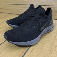 Nike Epic React Flyknit 2 Running Shoes Black Grey BQ8927-001 Women's Size 11