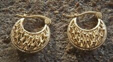 Pretty handmade Indian Bollywood fashion gold plated hoop earrings