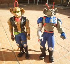 Biker mice from mars MEGA Mice lot Modo and Throttle 1994 12'' 30cm RARE goodcnd
