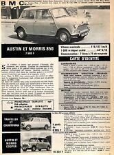 "AUTOMOBILES BMC "" AUSTIN MORRIS 850 & 1100 "" ADP 1966"
