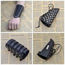 Punk Men Women Wide Leather Belt Bracelet Cuff Wristband Bangle Black Coffee New