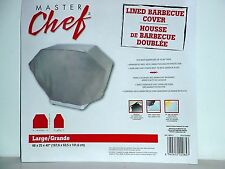 """Gas Grill Cover 66"""" L x25"""" W x 40"""" H  Lined Reinforced Vinyl ~ Master Chef"""