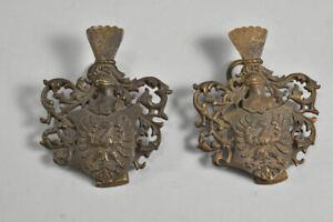 k59u31- 2x Metall Zettelhalter, Wappen