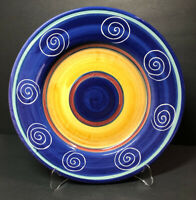Pier 1 Italian Swirl -hand Painted Dinner Plate