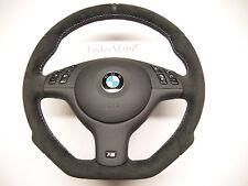 BMW complete Alcantara steering wheel E46 3 series M3 Tri M stitch flat bottom