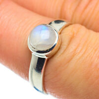Rainbow Moonstone 925 Sterling Silver Ring Size 7.75 Ana Co Jewelry R49760F