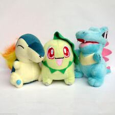 3X Johto Starter Pokemon Plush Cyndaquil Totodile Chikorita Toy