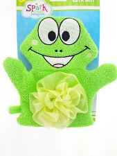 New Frog Terrycloth Bath Puppet Mitten Mitt Kid Baby Child Bathtime Bath Fun