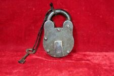 Iron Brass Lock and Key 1900s Rare Antique Vintage Old Collectible BG-58