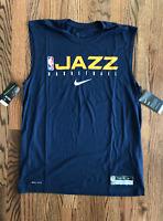 63 New Nike UTAH JAZZ Jersey Tank Sleeveless Shirt White CD2787-100 Mens M XL