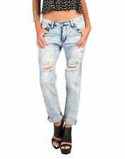 EC! ABERCROMBIE & FITCH High Rise Relaxed Skinny MOM Acid Wash Jeans Sz 4