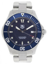 Tag Heuer Mens Aquaracer  Blue Dial Stainless Steel Bracelet Watch WAB2011 41mm