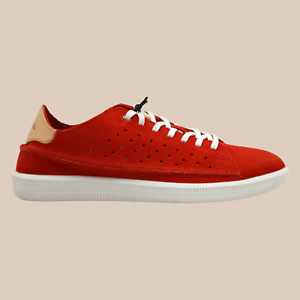 DIESEL S-Naptik Mens Low Top Suede Fashion Casual Sneakers Fiery Red Size 10.5