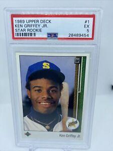 1989 Upper Deck Star Rookie RC Ken Griffey Jr. Seattle Mariners #1 PSA 5