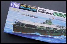 Aoshima Unryu japonés Marina portaaviones WL 01486-2000 1:700 Kit de modelo de escala