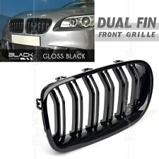Gloss Black Dual Slat Fin Front Mesh Grille for BMW F10 F11 2010-2016 free Clip