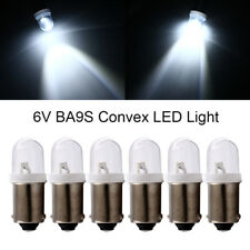 100Pcs 6V 6.3V T11 T4W BA9S H6W 1895 Convex LED Car Indicator LED Interior Bulbs