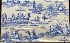 SCALAMANDRE Kilkenny Cats Toile #16259 SIX YARDS of Printed Glazed Sateen Fabric