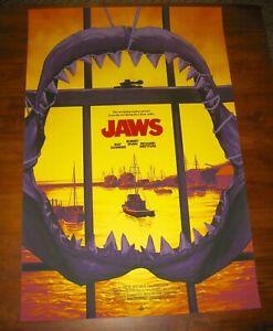 Phantom City Creative JAWS Variant Movie Poster Screen Print PCC Mondo Spielberg