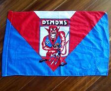 VINTAGE 70's VFL MELBOURNE DEMONS FOOTBALL CLUB CARICATURE FLAG AFL GO DEES