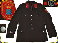 Volunteer Fire Brigade Jacket Vintage 38 UK US / 48 EU Even - 85 % ¡¡¡ BO01 TOL2