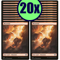 20x MOUNTAIN 380 Double Masters Full Art Basic Land NMLP MTG Magic the Gathering