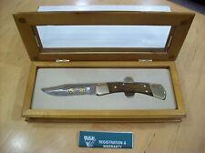 LIMITED EDITION BUCK KNIFE 110 ~ 24K GOLD ETCH DEER SCENE #057/300 ~ NOS 2008
