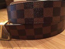 "Brand New Men's Belt  Brown Belt with gold buckle 48"""
