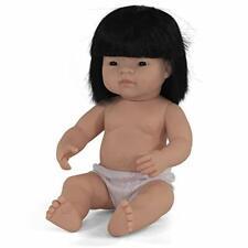 Babypuppe asiatisches Mädchen 38cm Kinderspielzeug 30 cm hoch unvollständig