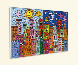 Day or night - my city is bright Tag Nacht Kunstdruck Poster Rizzi Platte 55