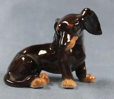 Dackel Porzellanfigur hund hundefigur  Teckel porzellan figur Plaue 1920