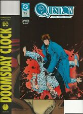 The QUESTION #17(1st  RORSCHACH in DC continuity),Doomsday Clock 1 lenticular VF