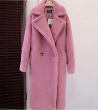 womens Winter wool Thick Teddy long Coat Lamb Wool Coat outwear parkas