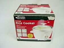 'Kitchen Gourmet' 3 cup Rice Cooker