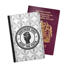Northern Soul Logo Retro Dance Record Passport Holder Travel Flip Cover Case