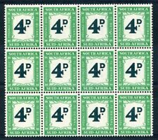 SOUTH AFRICA 1950-58 4d Deep myrtle green & emerald Postage due SG D42 MNH