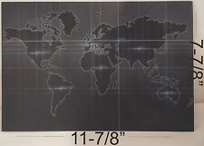 """Kydex Infused World Map  Print Approx 11 7/8"""" x 7 7/8""""  1 Sheet"""