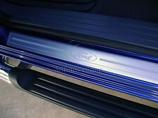 GENUINE FORD PX + MK2 RANGER POLISHED ALLOY DOOR ENTRY SCUFF PLATES W/FORD LOGO