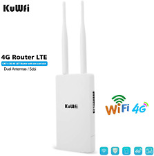 300Mbps 4G WiFi Router, KuWFi Waterproof LTE Wireless Outdoor CPE Cat4 High Gain