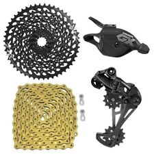 SRAM GX Eagle 12 Speed Groupset, Trigger Shifter w/ YBN 12 Speed Chain Gold
