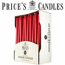 Prices Tapered Candles Unwrapped Dinner Price's Candle, Pack of 50, Red 8h burn