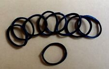 10 BLACK SILIOCONE RUBBER RINGS FOR MOURNING & VARIOUS CAUSES New.