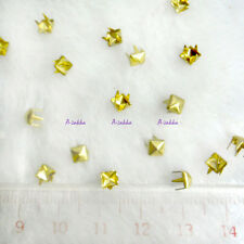 Doll Bjd 1/6 Dollfie Dress Making DIY Crafts Metal Mini Square Rivet 4mm Gold